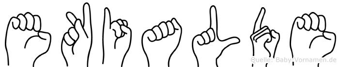 Ekialde in Fingersprache für Gehörlose