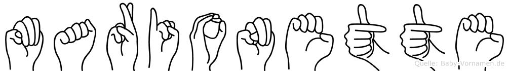 Marionette in Fingersprache für Gehörlose