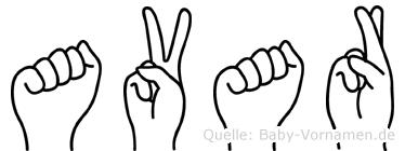 Avar in Fingersprache für Gehörlose