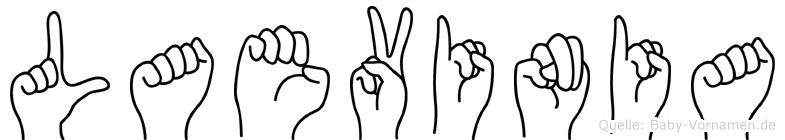 Laevinia in Fingersprache für Gehörlose