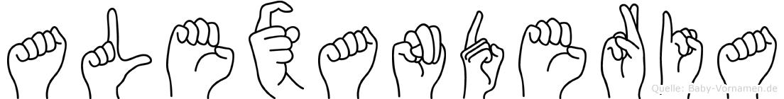 Alexanderia in Fingersprache für Gehörlose