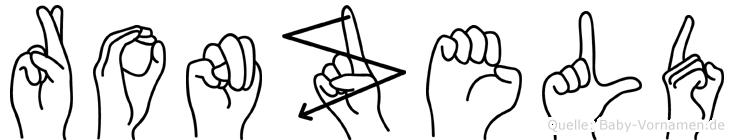 Ronzeld in Fingersprache für Gehörlose