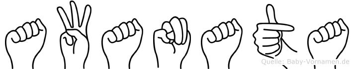 Awanata in Fingersprache für Gehörlose