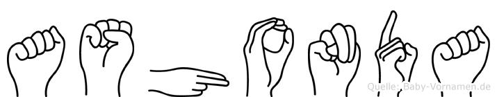 Ashonda in Fingersprache für Gehörlose
