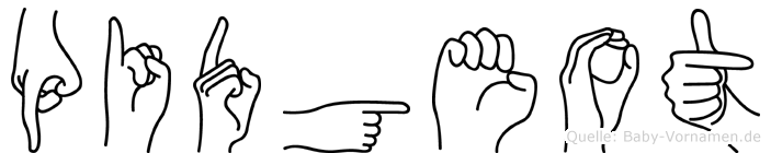 Pidgeot in Fingersprache für Gehörlose