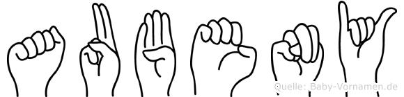 Aubeny in Fingersprache für Gehörlose