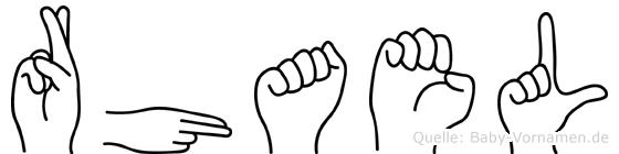 Rhael in Fingersprache für Gehörlose