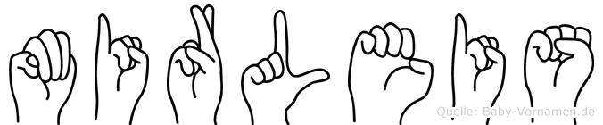Mirleis in Fingersprache für Gehörlose