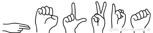 Helvia in Fingersprache für Gehörlose