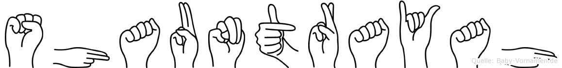 Shauntrayah in Fingersprache für Gehörlose
