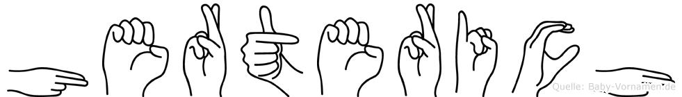 Herterich in Fingersprache für Gehörlose
