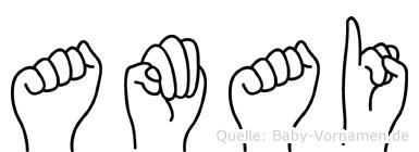 Amai in Fingersprache für Gehörlose