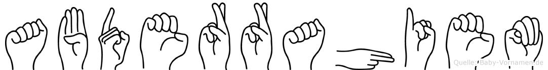 Abderrahiem in Fingersprache für Gehörlose