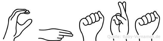Chara im Fingeralphabet der Deutschen Gebärdensprache