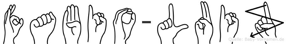 Fabio-Luiz im Fingeralphabet der Deutschen Gebärdensprache