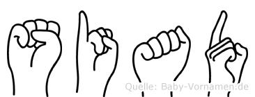 Siad in Fingersprache für Gehörlose