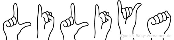 Liliya in Fingersprache für Gehörlose
