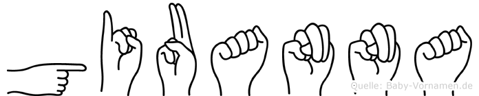 Giuanna im Fingeralphabet der Deutschen Gebärdensprache