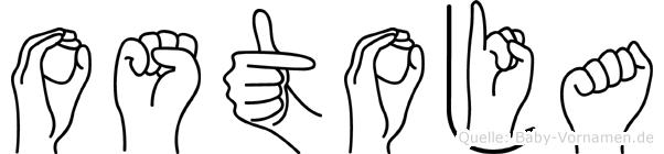 Ostoja in Fingersprache für Gehörlose