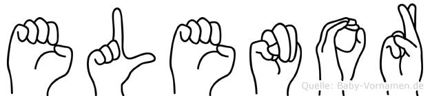 Elenor im Fingeralphabet der Deutschen Gebärdensprache
