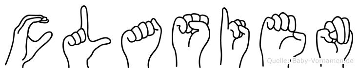 Clasien in Fingersprache für Gehörlose