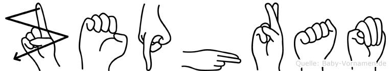 Zephram im Fingeralphabet der Deutschen Gebärdensprache