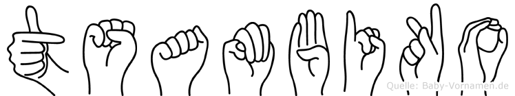 Tsambiko im Fingeralphabet der Deutschen Gebärdensprache