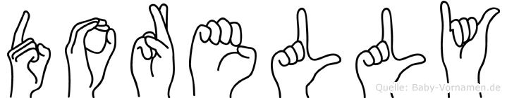 Dorelly im Fingeralphabet der Deutschen Gebärdensprache