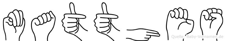 Matthes im Fingeralphabet der Deutschen Gebärdensprache