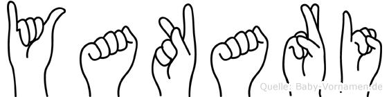 Yakari im Fingeralphabet der Deutschen Gebärdensprache