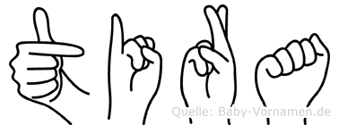 Tira in Fingersprache für Gehörlose