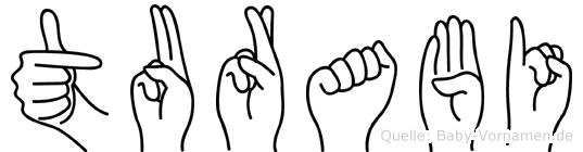 Turabi im Fingeralphabet der Deutschen Gebärdensprache