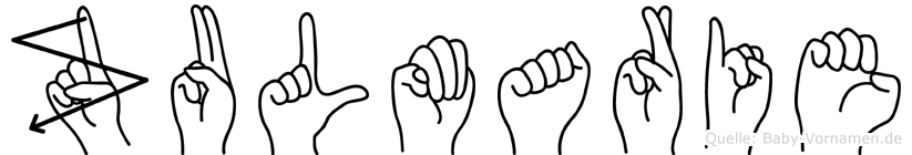 Zulmarie in Fingersprache für Gehörlose
