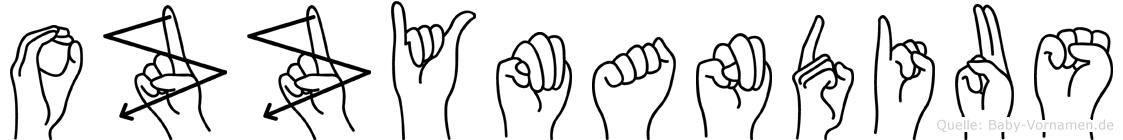 Ozzymandius im Fingeralphabet der Deutschen Gebärdensprache