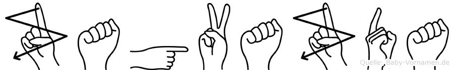 Zagvazda im Fingeralphabet der Deutschen Gebärdensprache