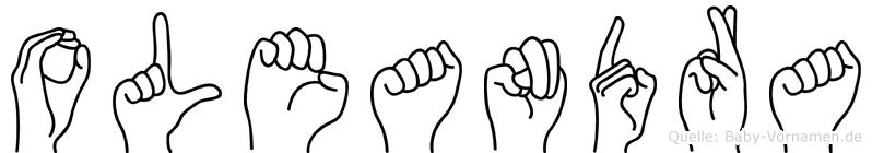 Oleandra in Fingersprache für Gehörlose