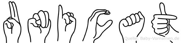 Unicat im Fingeralphabet der Deutschen Gebärdensprache