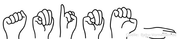 Amineh in Fingersprache für Gehörlose