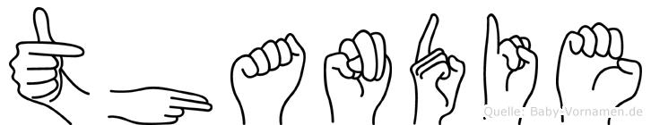 Thandie in Fingersprache für Gehörlose
