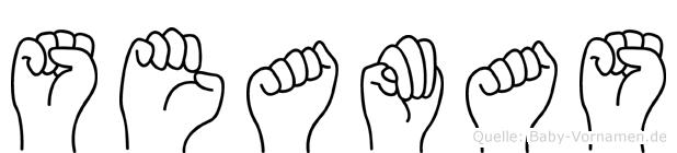 Seamas in Fingersprache für Gehörlose