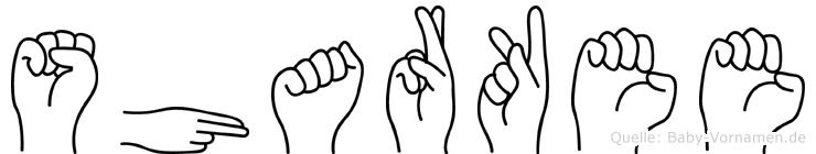 Sharkee in Fingersprache für Gehörlose