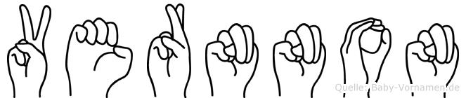 Vernnon im Fingeralphabet der Deutschen Gebärdensprache