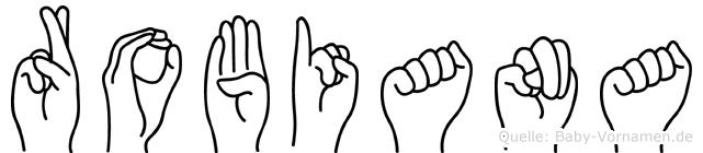 Robiana in Fingersprache für Gehörlose