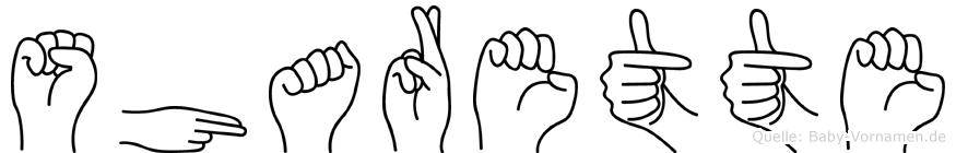 Sharette in Fingersprache für Gehörlose