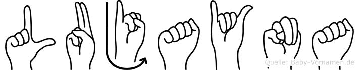 Lujayna in Fingersprache für Gehörlose