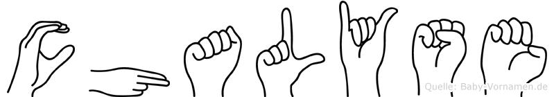 Chalyse in Fingersprache für Gehörlose