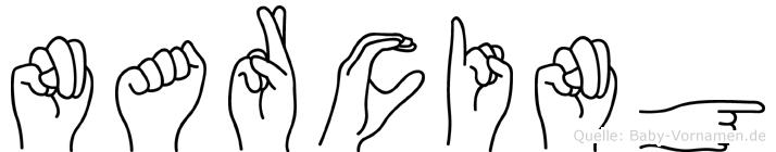 Narcing in Fingersprache für Gehörlose