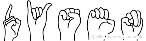 Dysen im Fingeralphabet der Deutschen Gebärdensprache