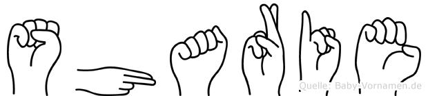 Sharie in Fingersprache für Gehörlose