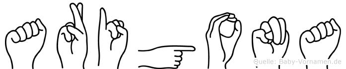 Arigona in Fingersprache für Gehörlose